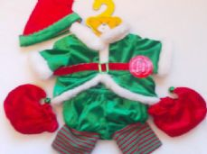 Adorable 5-Piece 'Elf Jingle Bell' Build-a-Bear Outfit